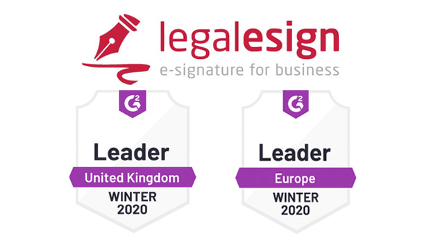 Legalesign kick starts 2020 with #1 ranking in UK and Europe